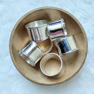 Vintage Set Of Six Silver Napkin Rings